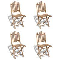 vidaXL Zložljivi vrtni stoli 2 kosa bambus