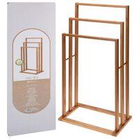 Bathroom Solutions Stojalo za brisače iz bambusa s 3 držali