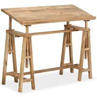 vidaXL Risalna miza iz trdnega mangovega lesa 116x50x76 cm
