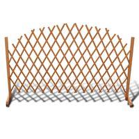 vidaXL Raztegljiva ograja iz trdnega lesa 180x100 cm