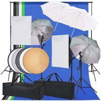 vidaXL Komplet za osvetljevanje za fotografski studio