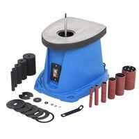 vidaXL Brusilnik z oscilacijskim vretenom 450 W modre barve