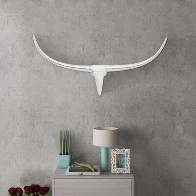Stenska Aluminijasta Dekorativna Bikova Glava Srebrna 96 cm