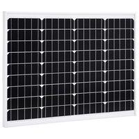 vidaXL Solarna plošča 50 W monokristalni aluminij in varnostno steklo