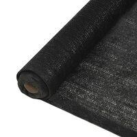 vidaXL Mreža za zasebnost 1,5x50 m črna