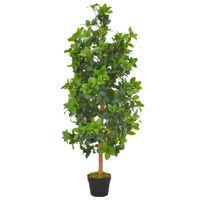 vidaXL Umetna rastlina lovorovo drevo z loncem zelena 120 cm