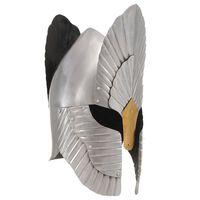 vidaXL Fantazijska srednjeveška viteška čelada kopija LARP srebrna