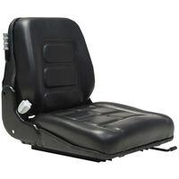 vidaXL Sedež za viličar in traktor vzmetenje prilagodljivo naslonjalo