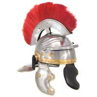 vidaXL Rimska vojaška čelada starinska kopija LARP srebrno jeklo