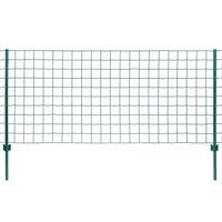 vidaXL Evro ograja iz jekla 20x1,5 m zelena