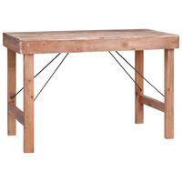 vidaXL Jedilna miza 120x60x80 cm trden predelan les