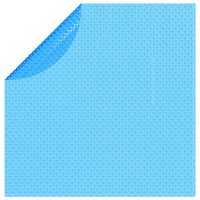vidaXL Plavajoča okrogla PE solarna folija za bazen 455 cm modre barve