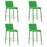 vidaXL Barski stolčki 4 kosi zeleno umetno usnje