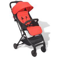vidaXL Zložljiv otroški voziček rdeč 89x47,5x104 cm