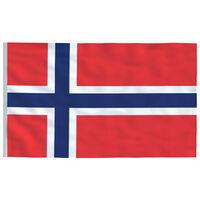 vidaXL Norveška zastava 90x150 cm