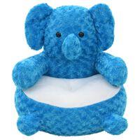 vidaXL Plišasta igrača slon moder