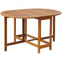 vidaXL Vrtna miza 130x90x72 cm trden akacijev les