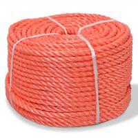 vidaXL Zvita vrv polipropilen 8 mm 500 m oranžna