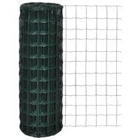 vidaXL Evro ograja iz jekla 10 x 1,0 m zelena