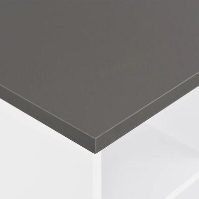 vidaXL Barska miza 60x60x110 cm bela