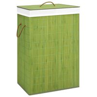vidaXL Košara za perilo iz bambusa zelena