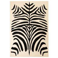 vidaXL Moderna preproga zebra vzorec 80x150 cm bež/črna