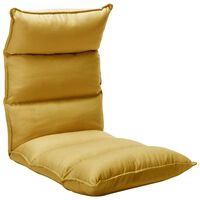 vidaXL Zložljiv stol / blazina gorčično rumeno blago