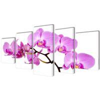Set platen s printom orhidej 100 x 50 cm