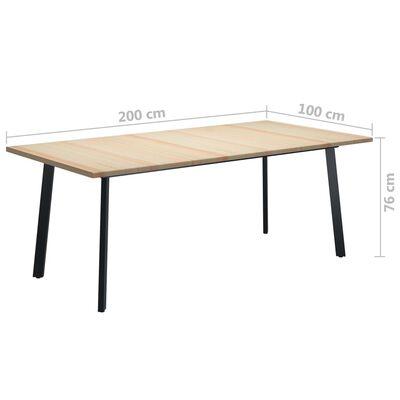 vidaXL Jedilna miza 200x100x76 cm borovina