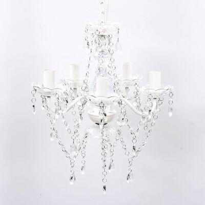 Transparentni Kristalni Lestenec 5 Žarnic