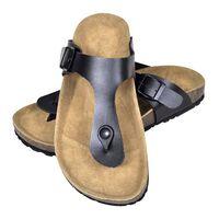 vidaXL Ženski bio sandali iz plute japonke črne barve 36