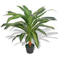vidaXL Umetna rastlina dracena v loncu 90 cm zelene barve