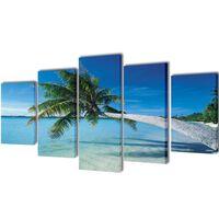Set platen s printom peščene plaže s palmami 200 x 100 cm