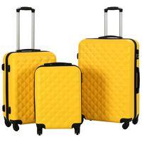 vidaXL Trdi potovalni kovčki 3 kosi rumeni ABS