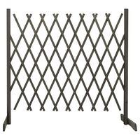 vidaXL Vrtna mrežasta ograja siva 180x100 cm les jelke
