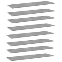 vidaXL Dodatne police za omaro 8 kosov betonsko sive 100x30x1,5 cm