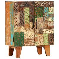 vidaXL Komoda ročno izrezljana 60x30x75 cm trden predelan les