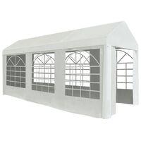 vidaXL Vrtni šotor PE 2x5 m bel