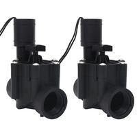 vidaXL Elektromagnetni ventil za zalivanje 2 kosa AC 24 V