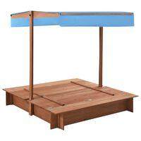 vidaXL Peskovnik s streho iz lesa jelke 122x120x123 cm