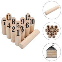 vidaXL Igra Kubb s številkami komplet iz lesa