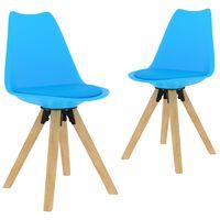 vidaXL Jedilni stoli 2 kosa modri