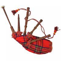 vidaXL Škotske Dude Great Highland Rdeč Royal Stewart Tartan