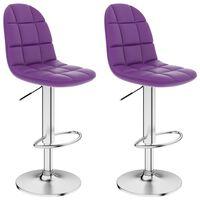 vidaXL Barski stolčki 2 kosa vijolično umetno usnje