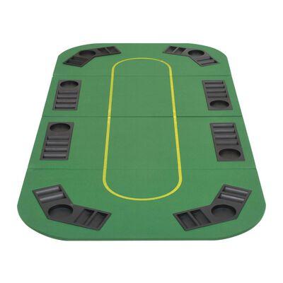 vidaXL Zložljivo poker namizje za 8 igralcev pravokotno zeleno