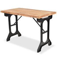 vidaXL Jedilna miza s površino iz masivnega jelševega lesa 122x65x82 cm