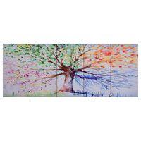 vidaXL Slika na platnu drevo v dežju večbarvno 150x60 cm