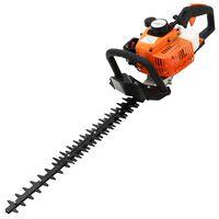 vidaXL Bencinske škarje za živo mejo 722 mm oranžne in črne barve