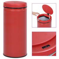 vidaXL Avtomatski smetnjak senzorski 80 L karbonsko jeklo rdeč