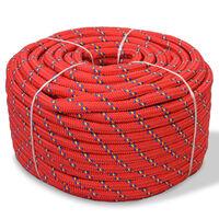 vidaXL Mornarska vrv polipropilen 12 mm 250 m rdeča